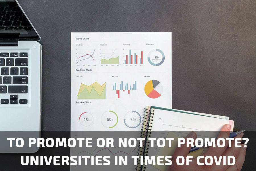 To promote or not to promote online? Universities in times of COVID.