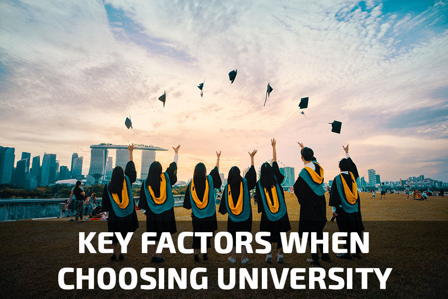 The number of key factors that influence students' decisions when choosing a university