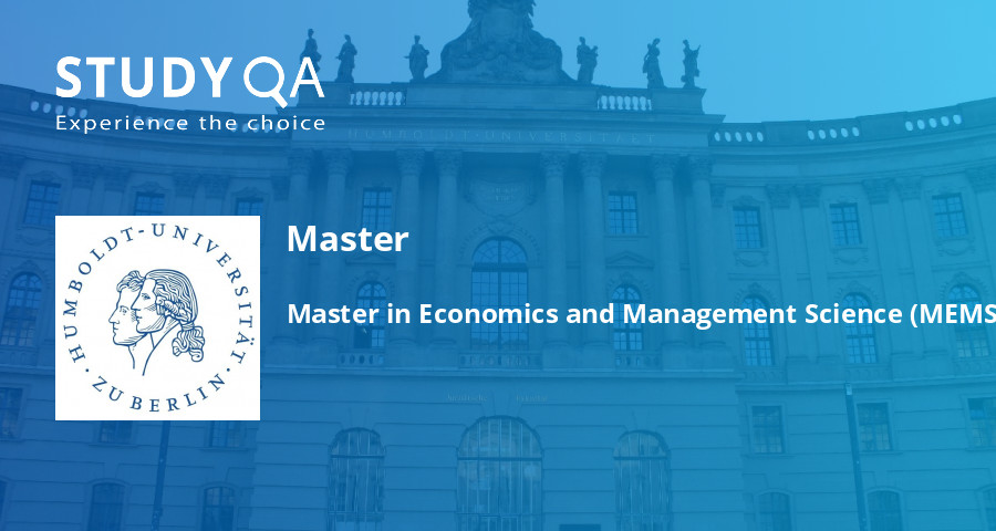 Master Of Science In Economics And Business Administration
